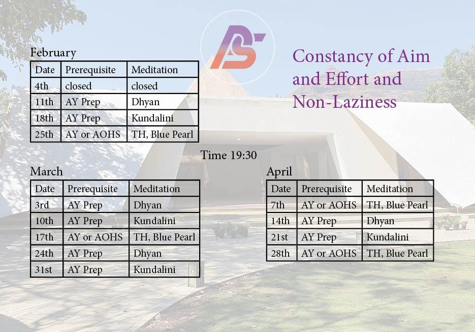 February-April Calendar